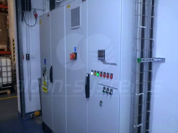 automatyka wentylacji pomieszczenia produkcyjnego